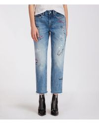 AllSaints - Graff Boys Frayed Jeans - Lyst