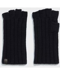 AllSaints - Ribbed Cut Off Fingerless Gloves - Lyst