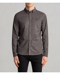 AllSaints - Huntingdon Long Sleeve Shirt - Lyst