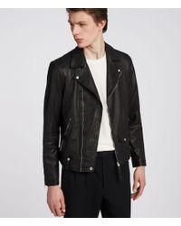 AllSaints - Jace Leather Biker Jacket - Lyst