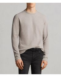 AllSaints - Clash Long Sleeved Crew T-shirt - Lyst
