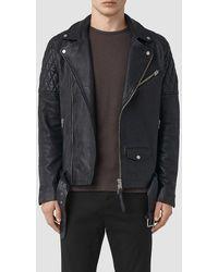 AllSaints - Boyson Leather Biker Jacket - Lyst