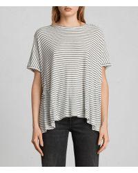 AllSaints - Elena Stripe T-shirt - Lyst