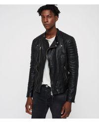 AllSaints - Sarls Leather Biker Jacket - Lyst