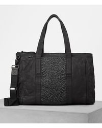 AllSaints - Hoshi Leather Holdall - Lyst
