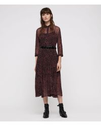 AllSaints - Eley Rosey Dress - Lyst
