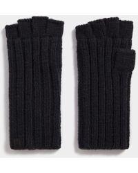 AllSaints - Ribbed Cut Off Fingerless Gloves - Lyst