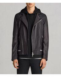 AllSaints | Conroy Leather Biker Jacket | Lyst