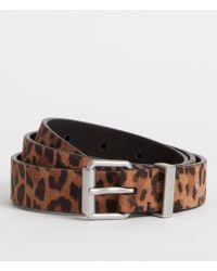 AllSaints - Karin Leather Belt - Lyst
