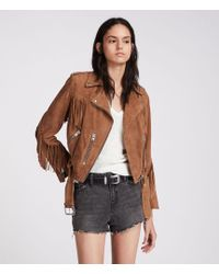 AllSaints - Nyla High-waisted Shorts - Lyst