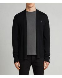 AllSaints - Mode Merino Open Cardigan - Lyst