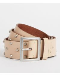 AllSaints - Carine Leather Belt - Lyst