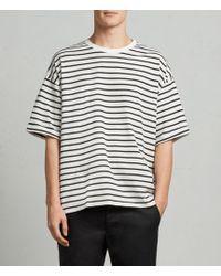 AllSaints - Kleve Stripe Crew T-shirt - Lyst