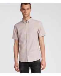 AllSaints - Huntingdon Short Sleeve Shirt - Lyst