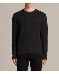 AllSaints - Trias Crew Sweater - Lyst