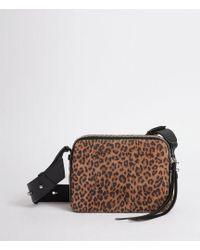 AllSaints - Vincent Suede Crossbody Bag - Lyst