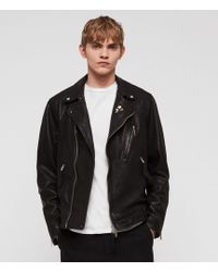 AllSaints - Vice Leather Biker Jacket - Lyst