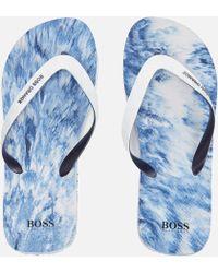 BOSS Orange - Men's Loy Flip Flops - Lyst