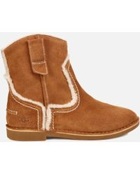 UGG - Catica Suede Flat Boots - Lyst