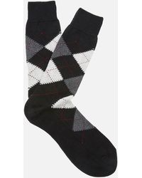 Pantherella - Men's Turnmil Egyption Cotton Argyle Socks - Lyst