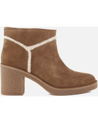 UGG - Women's Kasen Suede Heeled Ankle Boots - Lyst