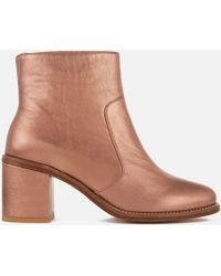 PS by Paul Smith - Women's Luna Leather Heeled Ankle Boots - Lyst
