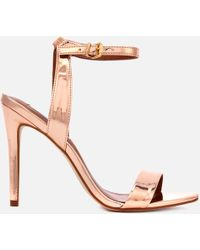 Steve Madden - Landen Barely There Heeled Sandals - Lyst