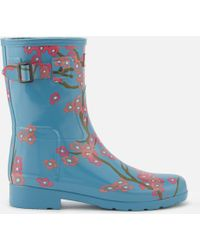HUNTER - Refined Blossom Print Short Wellies - Lyst