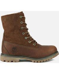 Timberland   Authentics Teddy Fleece Waterproof Fold-over Boots   Lyst