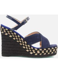 PS by Paul Smith - Women's Tatum Raffia Wedged Sandals - Lyst