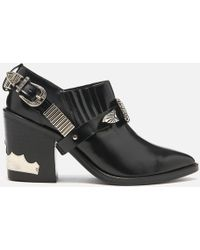 Toga Pulla - Leather Heeled Shoe Boots - Lyst