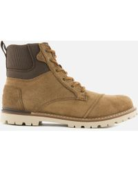 TOMS - Ashland Waterproof Suede Hiker Boots - Lyst