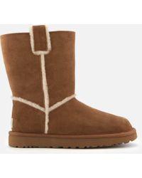 UGG - Classic Short Spill Seam Sheepskin Boots - Lyst