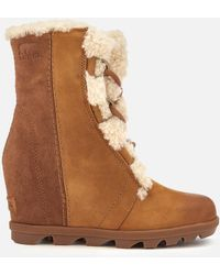 Sorel - Joan Of Arctic Shearling Wedge Boots - Lyst