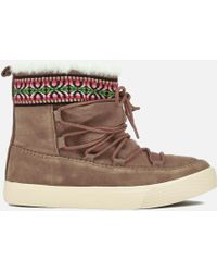 TOMS - Women's Alpine Waterproof Suede Sheepskin Boots - Lyst