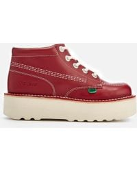 Kickers - Kick Hi-stack Leather Boots - Lyst