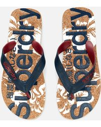 Superdry - Printed Cork Flip Flop Sandals - Lyst