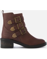 Superdry - Cheryl Military Boots - Lyst