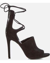 0351ef6fa Kendall + Kylie - Estella Suede Strappy Heeled Sandals - Lyst