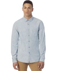 Alternative Apparel - Industry Railroad Stripe Chambray Shirt - Lyst