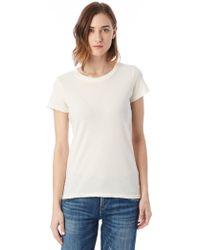 Alternative Apparel | Vintage Garment Dyed Distressed T-shirt | Lyst