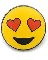 Alternative Apparel - Pintrill Hearty Eyes Smiley Pin - Lyst