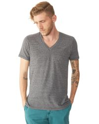 Alternative Apparel - Feeder Striped V-neck T-shirt - Lyst
