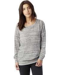 Alternative Apparel - Slouchy Space Dye Eco-jersey Pullover - Lyst