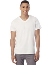 Alternative Apparel - Perfect Organic Pima V-neck T-shirt - Lyst