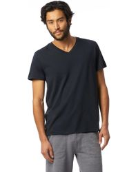 Alternative Apparel - Perfect Organic Pima V-neck T-shirt - Lyst