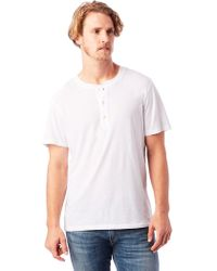 Alternative Apparel - Organic Short Sleeve Henley Shirt - Lyst
