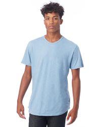 Alternative Apparel - Postgame Shadow Wash Slub Crew T-shirt - Lyst