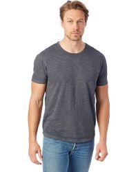Alternative Apparel - Postgame Washed Slub Crew T-shirt - Lyst