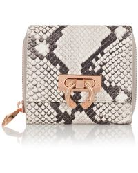 Amanda Wakeley - Natural Python Leather Jagger Wallet - Lyst